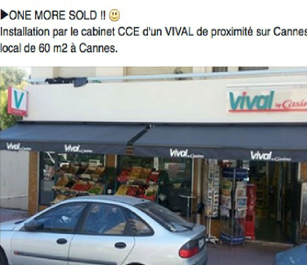 Vente commerce Le Cannet