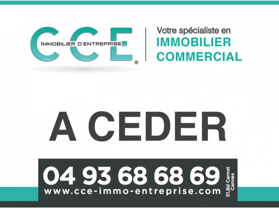 Vente commerce Cannes